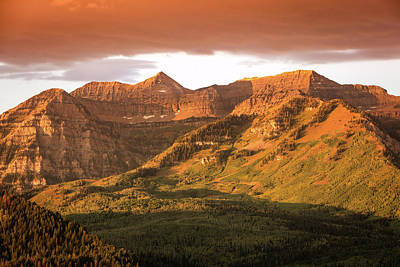 Photograph - Golden Glow On Timp. by Johnny Adolphson