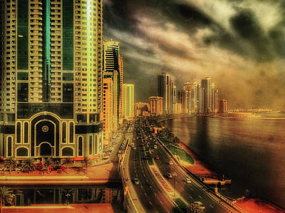 Photograph - Golden Glow Over The Corniche by Roberto Pagani
