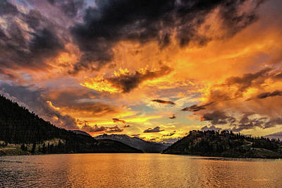 Photograph - Golden Glow Sunset At Summit Cove by Stephen Johnson
