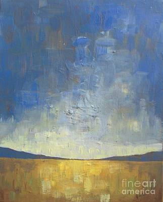 Abstract Landscapes Painting - Golden Glow by Vesna Antic