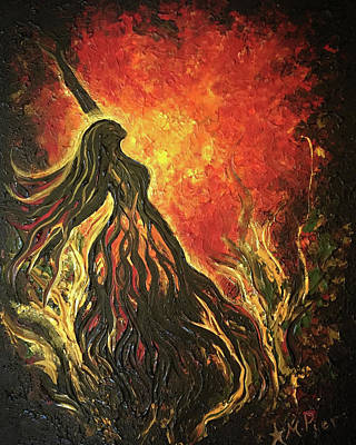 Painting - Golden Goddess by Michelle Pier
