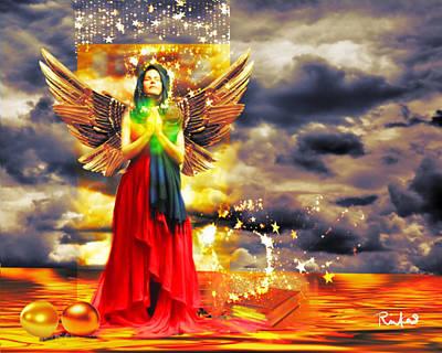 Golden Goddess Of Gratitude Art Print