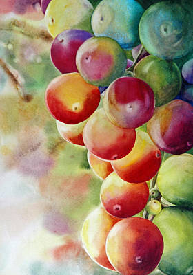Golden Grapes Art Print