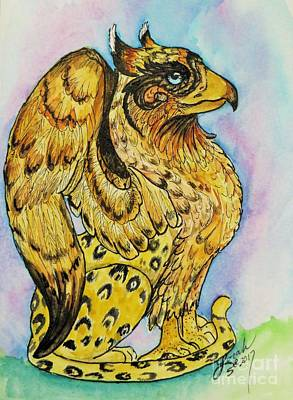 Painting - Golden Griffin by Lorah Tout