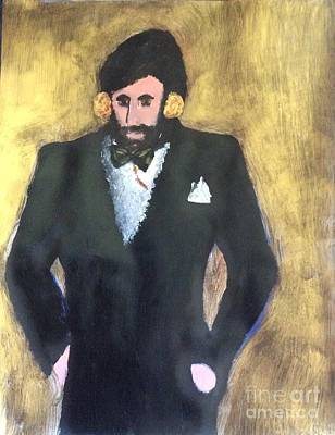 Painting - Golden Groom Fourteen by Richard W Linford