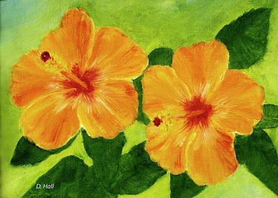Golden Hawaii Hibiscus Flower #25 Art Print by Donald k Hall