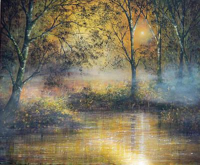 Golden Haze Art Print by Ann Marie Bone