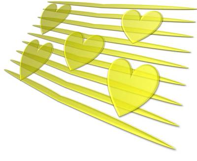 Golden Heart Original by Anil Bajpai