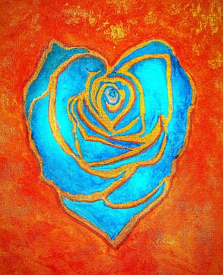 Painting - Golden Heart by Anne Sands