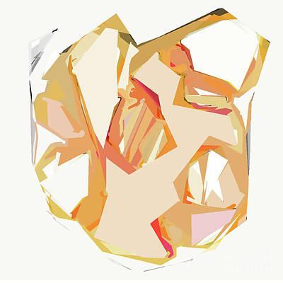 Digital Art - Golden Heart by Kirt Tisdale