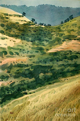 Golden Hills Art Print by Donald Maier