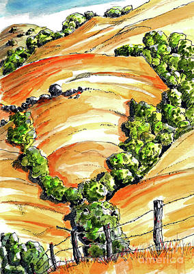 Painting - Golden Hills Of California by Terry Banderas