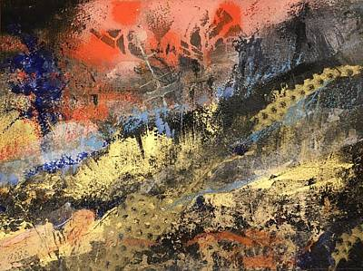 Mixed Media - Golden Hills by Sandra Lee Scott
