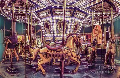 Golden Hobby Horse Art Print