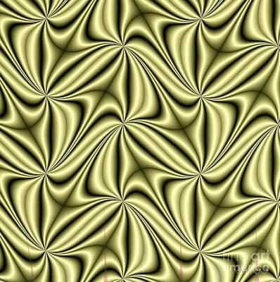 Digital Art - Golden Hologram Fractal Abstract by Rose Santuci-Sofranko