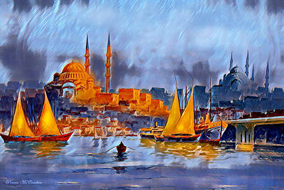 Digital Art - Golden Horn Of Istanbul by Pennie McCracken