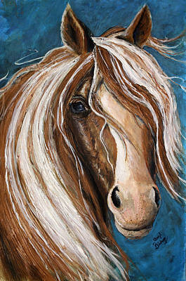 Wall Art - Painting - Golden Horse by Cheryl Bishop