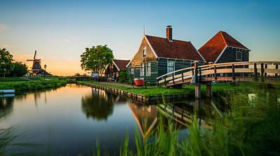 Zaanse Schans Photograph - Golden Hour @ Zaanse Schans by Martin Podt