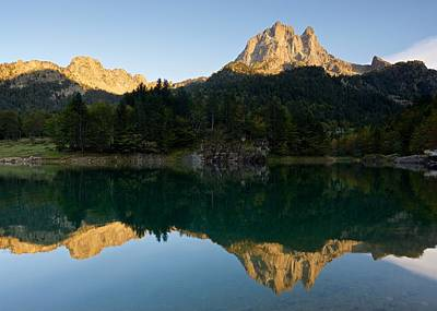 Photograph - Golden Hour At Lac De Bious-artigues by Stephen Taylor