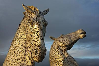 Photograph - Golden Hour At The Kelpies by Stephen Taylor