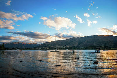 Photograph - Golden Hour At Wanaka Lake  by Daniela Constantinescu