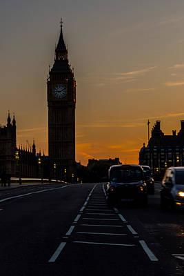 Golden Hour Big Ben In London Art Print