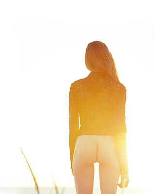 Photograph - Golden Hour Girl by Michael Maximillian Hermansen