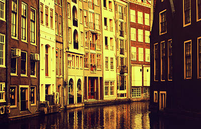 Photograph - Golden Hour In Amsterdam by Jenny Rainbow