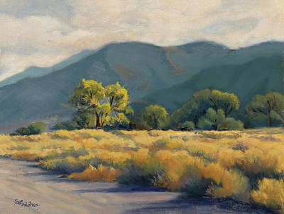 Painting - Golden Hour In Owen's Valley by Sandy Fisher