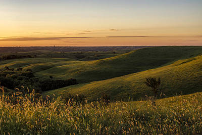 Scott Bean Rights Managed Images - Golden Hour in the Flint Hills Royalty-Free Image by Scott Bean