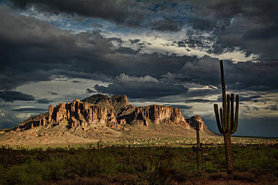 Photograph - Golden Hour In The Superstition Wilderness  by Saija Lehtonen