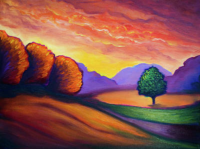 Painting - Golden Hour Landscape by Lilia D