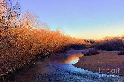 Photograph - Golden Hour Maramec Springs  by Peggy Franz