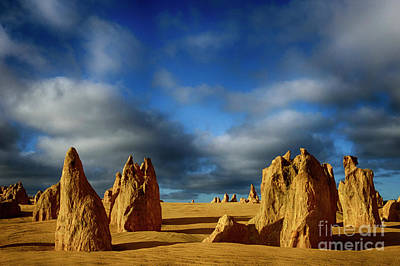 Photograph - Golden Hour Nambung Desert Australia 2 by Bob Christopher