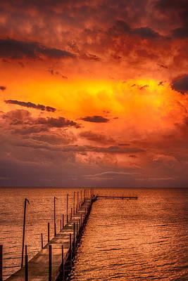 Golden Hour On Lake Milacs Art Print by Paul Freidlund