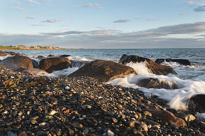 Photograph - Golden Hour On The Rhode Island Coastline by Andrew Pacheco