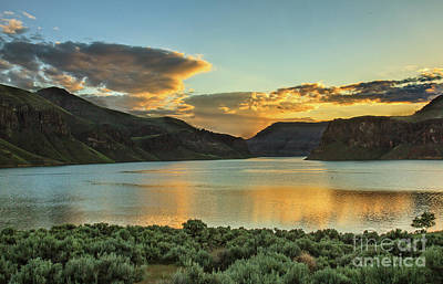 Photograph - Golden Hour Over Owyhee Reservoir by Robert Bales