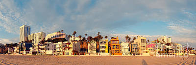 Golden Hour Panorama Of Santa Monica Condos And Bungalows - Los Angeles California Art Print by Silvio Ligutti