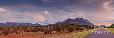Photograph - Golden Hour Panorama Of Sawtooth And Bear Mountain - Mount Livermore Nature Preserve - West Texas by Silvio Ligutti