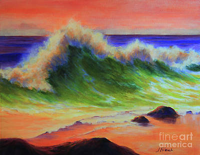 Painting - Golden Hour Sea by Jeanette French