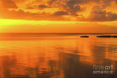 Photograph - Golden Hour Sunset Outer Banks by Randy Steele