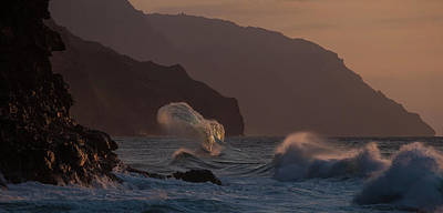 Photograph - Golden Hour Wave by Roger Mullenhour