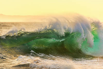 Art Print featuring the photograph Golden Hour Waves by Eddie Yerkish