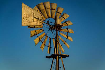 Water Droplets Sharon Johnstone - Golden Hour Windmill 2 by Willard Sharp