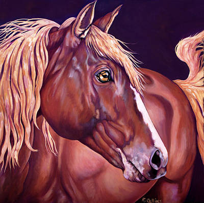 Mustang Painting - Golden Hours by Rose Collins