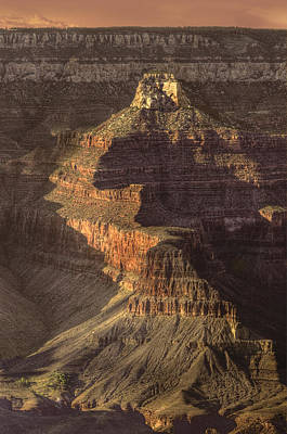 Photograph - Golden Hues Of Grand Canyon by Don Wolf