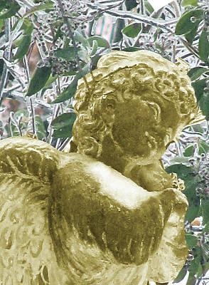 Golden Ice Angel Print by Debra     Vatalaro