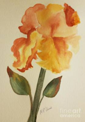 Painting - Golden Iris Watercolor by Maria Urso