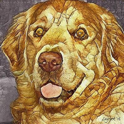 Golden Retriever Digital Art - Golden by Jodi Laycock