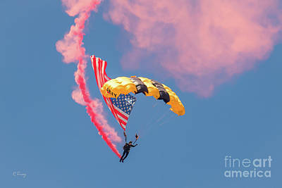 Photograph - Us Army Golden Knights  by Rene Triay Photography